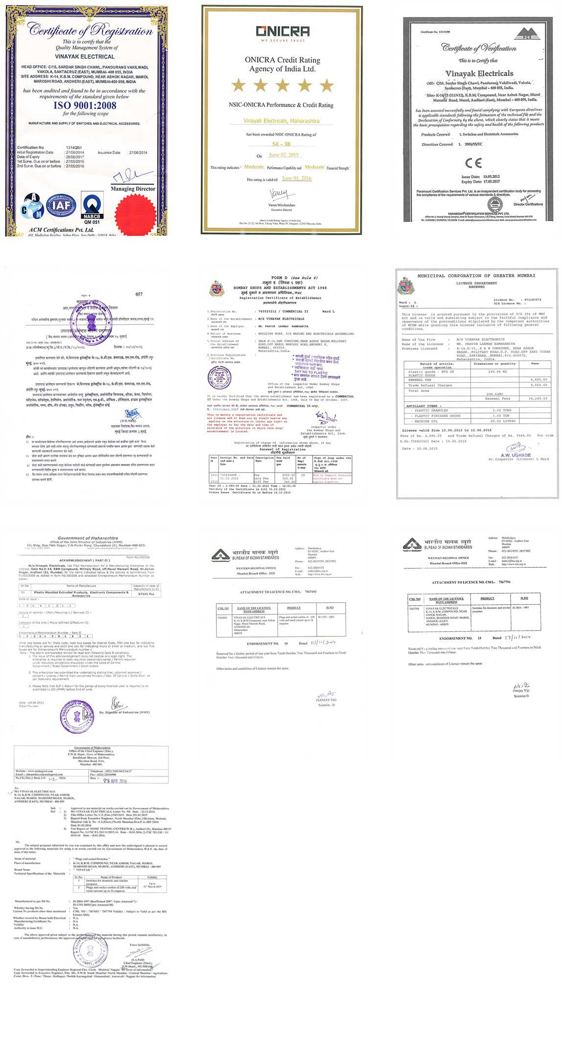 Quality & Certificates